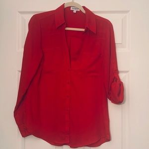 Express Red Portofino Blouse